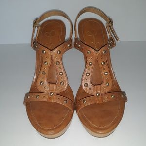 Jessica Simpson  Suntan Wedge